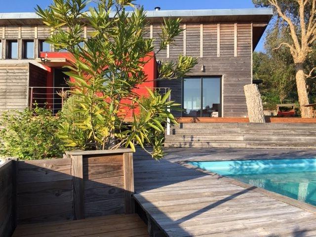Maison bois architecte Sud landes et son annexe indépendante, location de vacances à Labenne