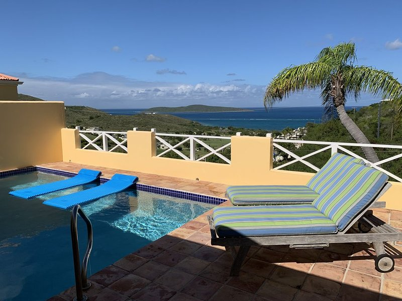 Limetree Villa for 2, Private HEATED Pool, Big Ocean & Buck Island View, holiday rental in St. Croix