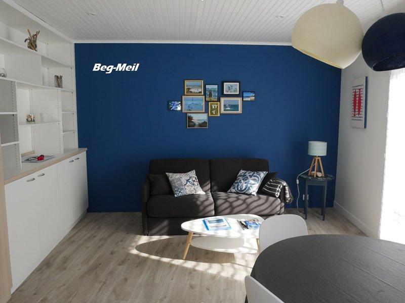 Appartement de plain pied classé 2 * à 100 mètres de la mer, holiday rental in Fouesnant