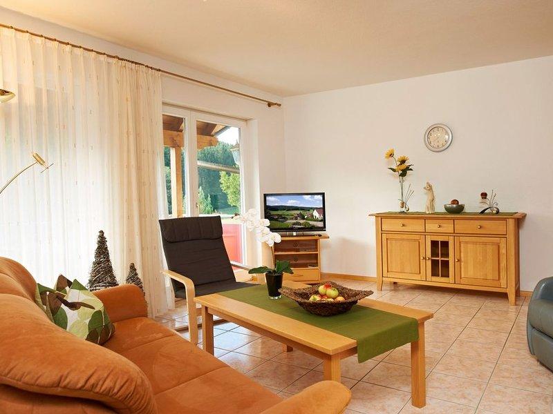Ferienwohnung 'Landblick', 87 qm, 2 Schlafzimmer, max. 4 Personen, location de vacances à Schweighausen