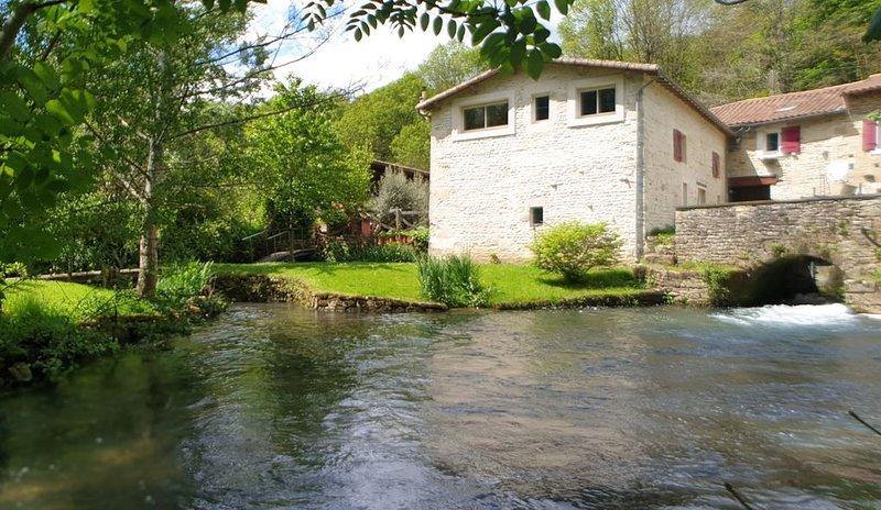 Moulin de la Cordelière, détente, nature et charme, location de vacances à Prailles