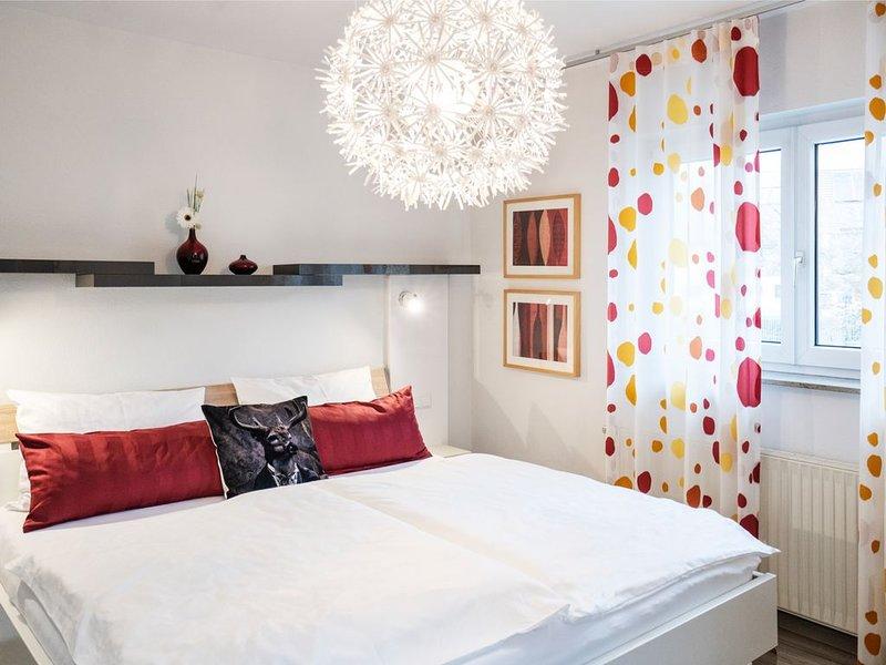 Ferienwohnung 2 zum Nussbaumgarten, 50 qm, 1 Schlafzimmer, großer Balkon, max. 2, location de vacances à Britzingen