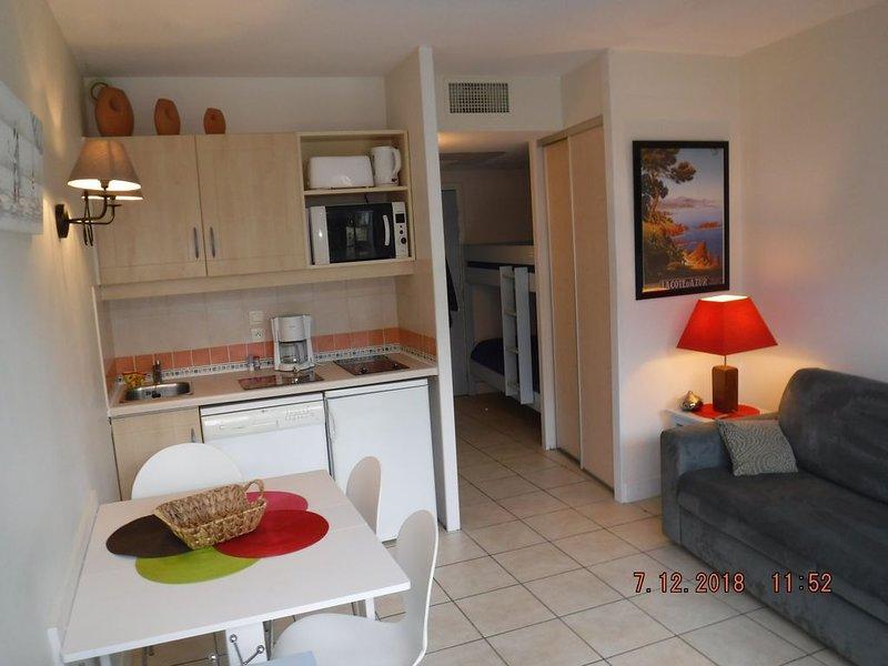 Dans résidence à 150m des plages et du port de plaisance de Saint Laurent du Var, holiday rental in St-Laurent du Var