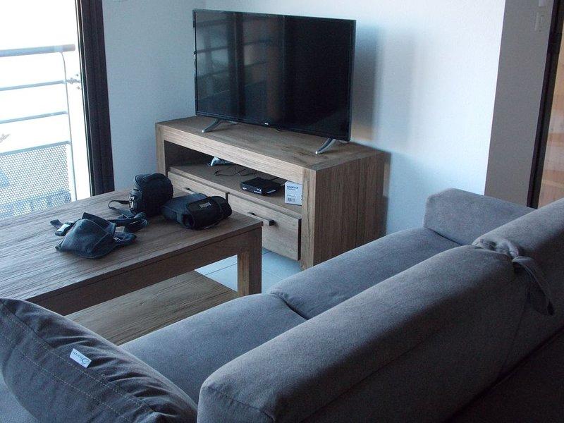 Appartement de standing neuf, 2 terrasses avec vue sur le lac et montagnes, holiday rental in Seyne