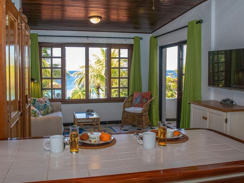 Oceanfront one bedroom apt in Cliff Haven Villa, divers paradise, vacation rental in Sabadeco
