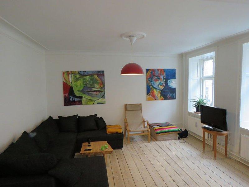 Big, cozy apartment in hippest area, vacation rental in Copenhagen