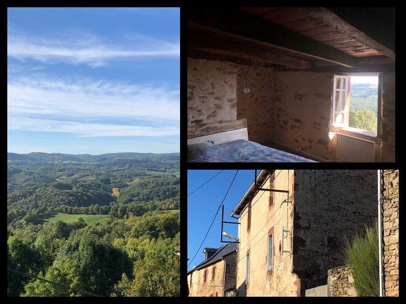 Gîte confortable avec vu magnifique sur les Causses, holiday rental in La Canourgue