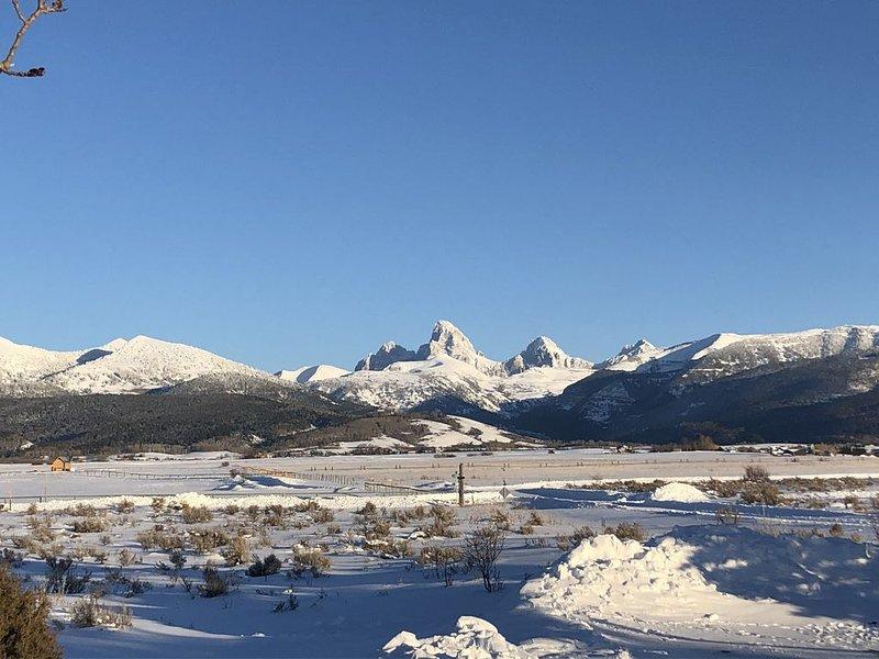 The Dancing Bear Log Cabin-Sleeps 8-11! Fantastic views and location, alquiler vacacional en Alta
