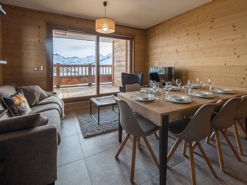 Appt spacieux avec terrasse plein sud au pied des pistes, location de vacances à Fontcouverte-la-Toussuire