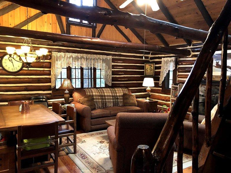 Bushkill Waterfront Log Cabin – semesterbostad i Bushkill