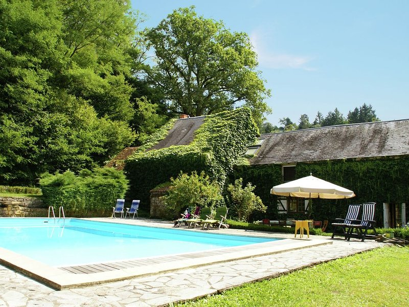 Quaint Holiday Home with Private Pool in Burgundy France, vacation rental in Glux-en-Glenne