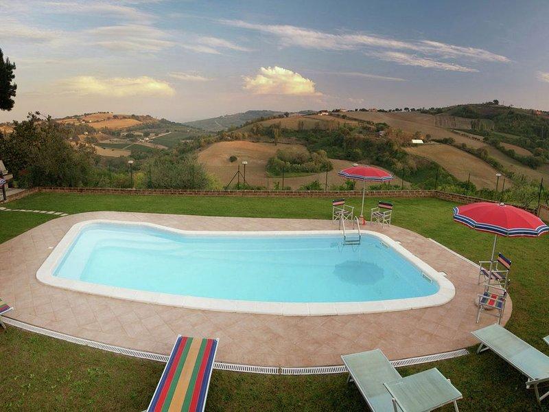 Spacious Farmhouse in Montecarotto with Private Terrace, vacation rental in Angeli Stazione