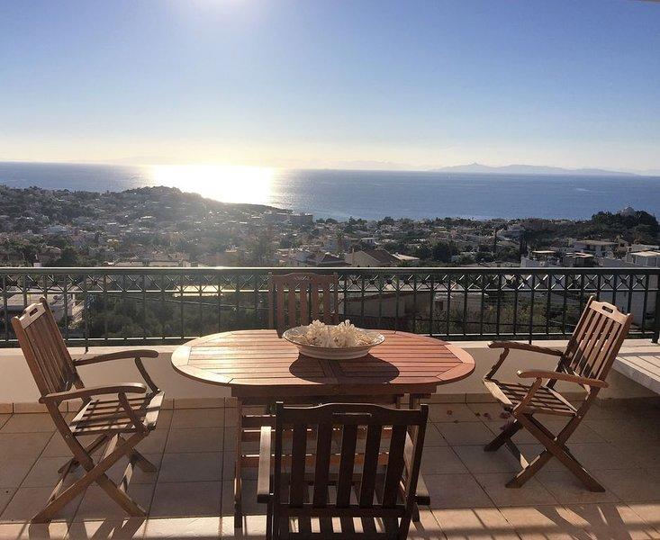Fantastic Penthouse - Amazing Sea View, holiday rental in Saronida