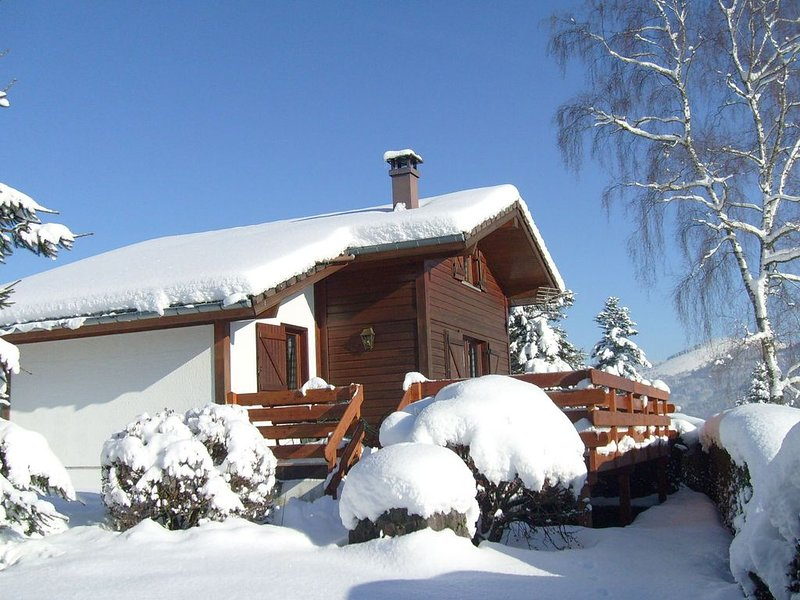 Rustic chalet with a dishwasher in the High Vosges, alquiler vacacional en Ferdrupt