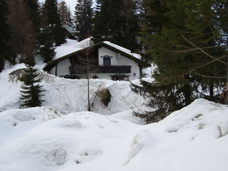 Queitly located chalet near the resort centre of Nassfeld, holiday rental in Jenig