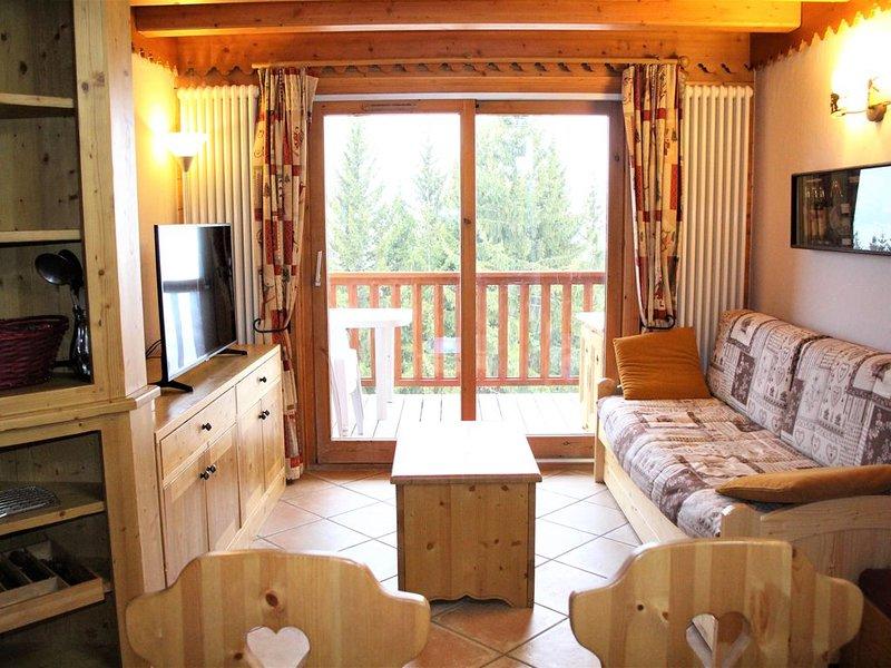 Arc 1800 Roselend 3 pièces rés calme standing, skis aux pieds, piscine, holiday rental in Les Arcs