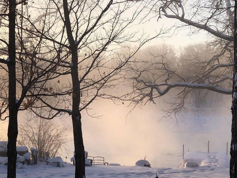 Amanecer de invierno - vista desde la casa!