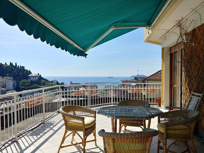 Il Mare in Terrazza con vista Portofino, holiday rental in Rapallo
