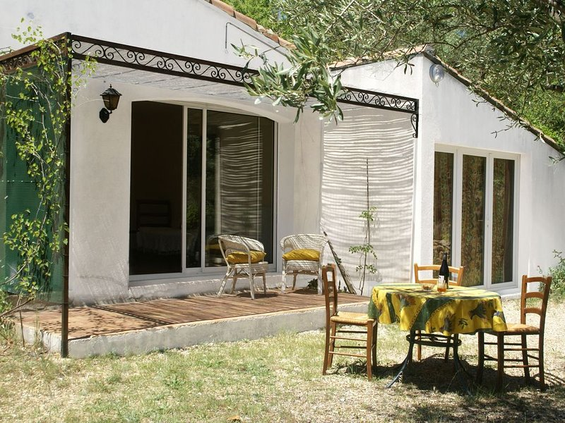 Cushy Villa in Vergèze with Fenced Garden, Terrace, Barbecue, location de vacances à Aigues-Vives