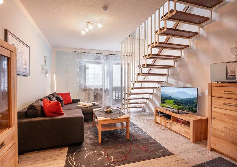 3***2 Zimmermassionettewohnung ,neurenoviertes Wohnzimmer ,Wlan,Mikrowelle,Balko, alquiler de vacaciones en Oberaudorf
