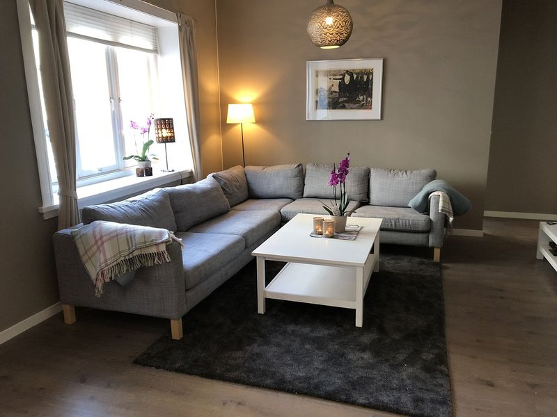 Central Oslo: Modern four-bedroom flat in quiet and charming neighbourhood, holiday rental in Lillestrom