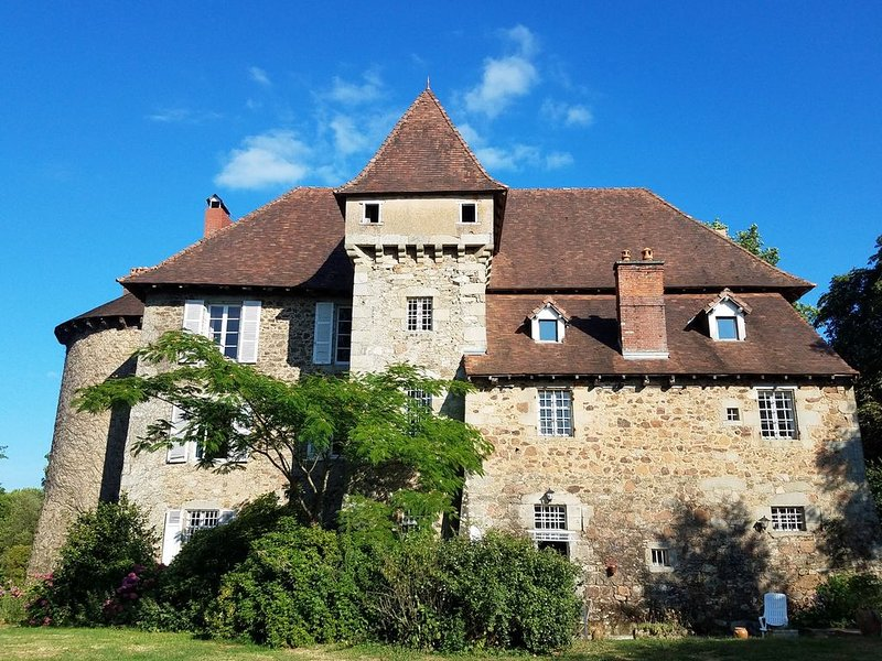 Authentic 13 Century Chateau-Fort, near rail, motorway, airport, and golf course, vacation rental in Rilhac-Rancon