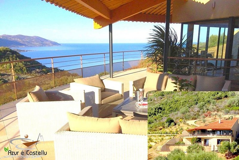 Villa de STANDING - 5 chambres - Piscine Privative - CORSE, vacation rental in Tiuccia