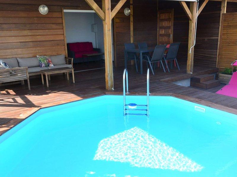 Bungalow vue mer/piscine privative/Ste Anne-Marin, location de vacances à Le Marin