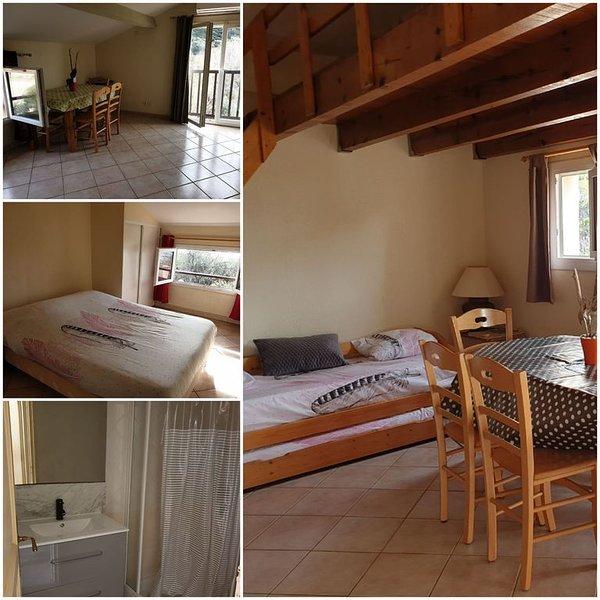 Appartement 5/6 pers 2 chambres avec 2 lits 140cm le séjour avec 2 lits 90cm, holiday rental in Ogliastro