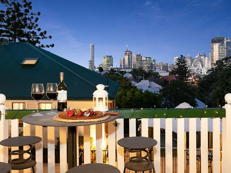 Take in the views from the private viewing deck