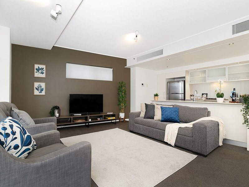 Spacious living room combined with kitchen and dining