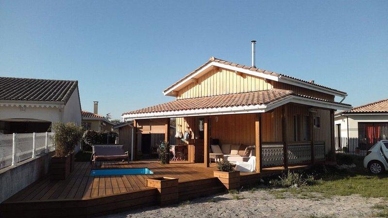 maison ossature bois avec terasse, holiday rental in Vendays Montalivet