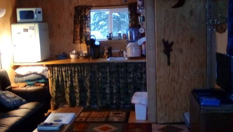 One bedroom cabin with inside toilet and stand up loft.  PET FRIENDLY!, alquiler vacacional en Trapper Creek