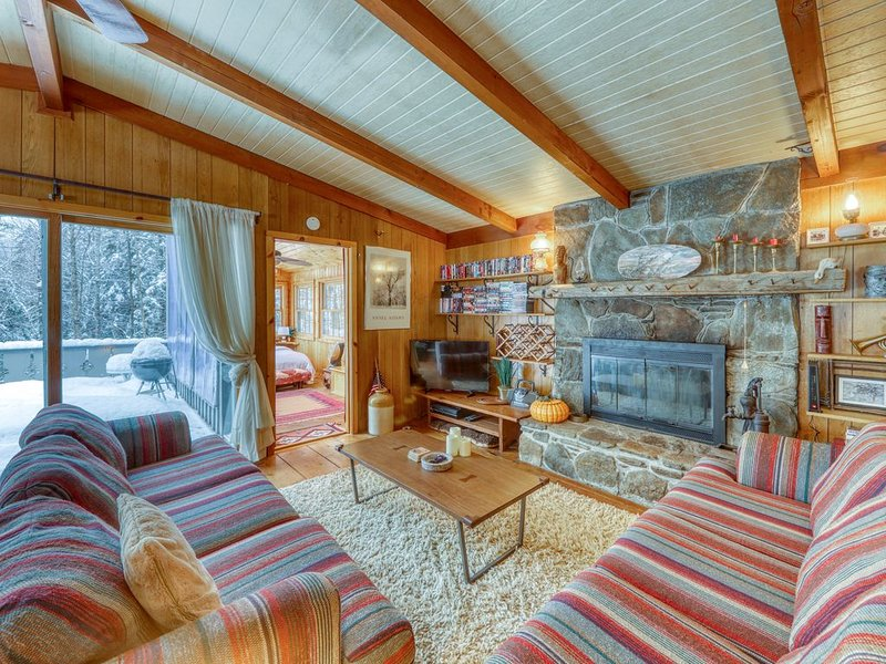 Dog-friendly chalet w/ wood stove, deck, & outdoor firepit - close to Mt. Snow!, alquiler de vacaciones en Dover