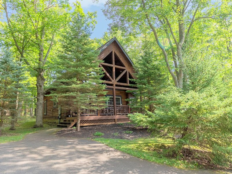 DOGS WELCOME! Lake Area Cabin w/Hot Tub, Wood Fireplace, & Charcoal Grill!, location de vacances à Oakland