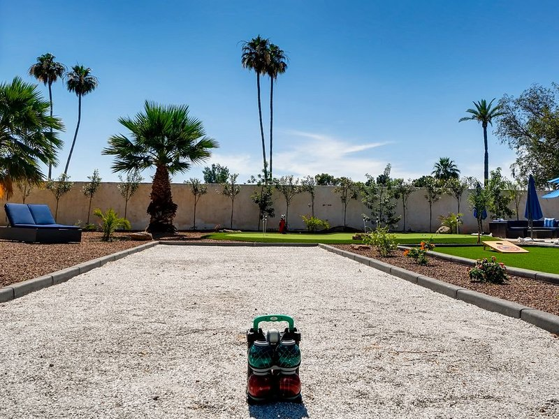 Catch a game of Bocce Ball, too!
