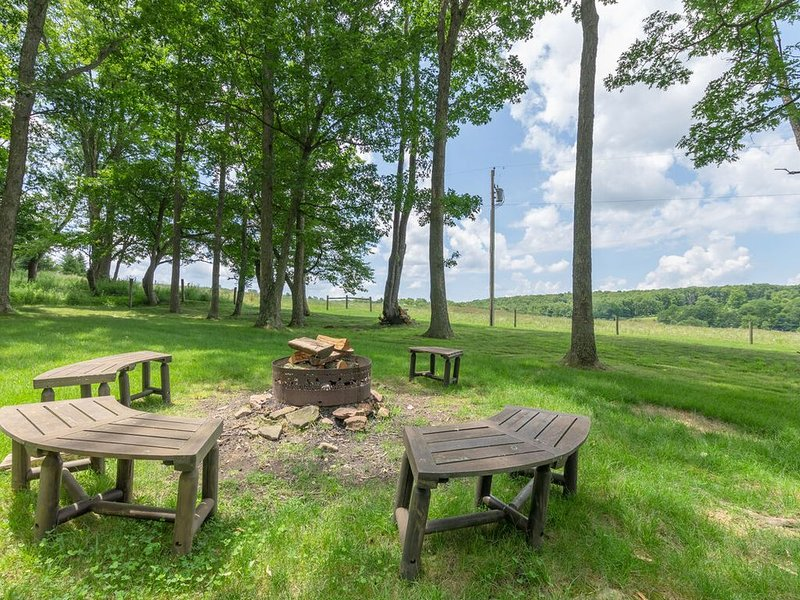 DOGS WELCOME! Lake Area Home w/Hot Tub, Fire Pit, & Wood Fireplace!, holiday rental in Reedsville