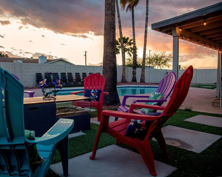 The beautiful Arizona sunsets are a perfect way to unwind in the evenings
