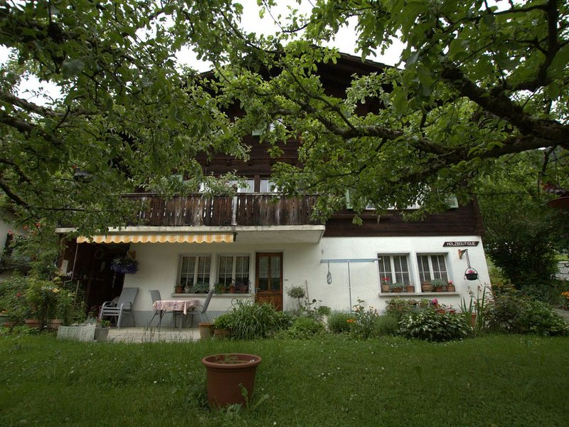 Neat house with view at the mountains, 3km from Lake Brienz, location de vacances à Brienz