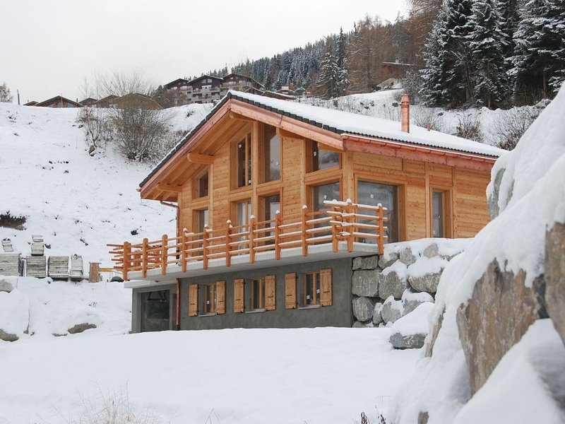 Comfortable Chalet by the Ski Resort in La Tzoumaz with Sauna, holiday rental in Riddes