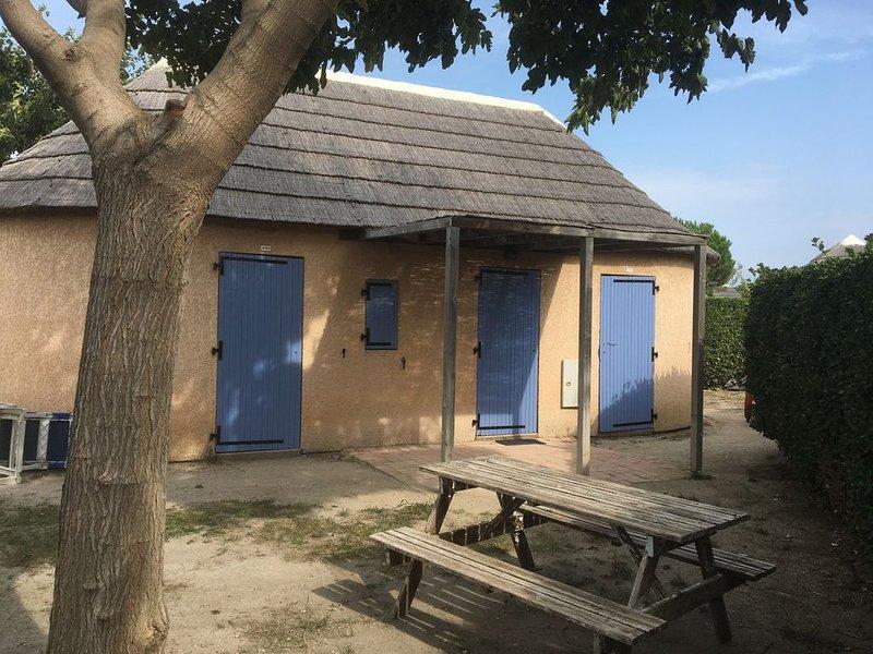 maison typique,mas de pêcheurs climatisé (piscine) pas de vis à vis, haie haute, casa vacanza a Le Barcares