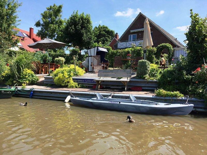 Wohlfühl-EG-Ap. im Ankerhaus direkt am Siel - barrierefrei, location de vacances à Krummhoern