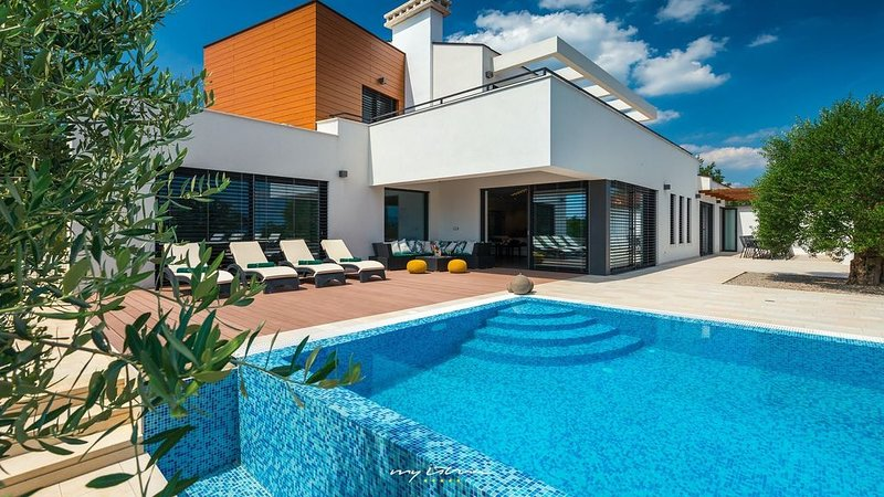 Beautiful modern villa with private pool in Istria, holiday rental in Gracisce