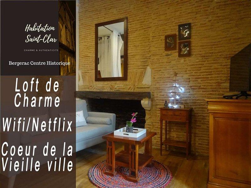 Loft de Charme 'Roxane' - Habitation Saint-Clar Centre Historique - WIFI/Netflix, location de vacances à Monbazillac