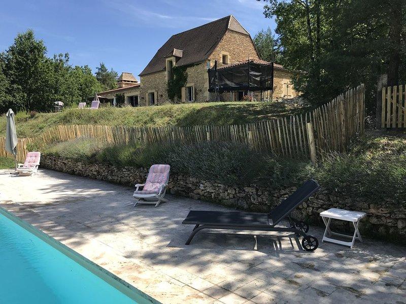 Au coeur du Périgord Noir, propriété de caractère avec vue imprenable, piscine, alquiler vacacional en Peyzac-le-Moustier