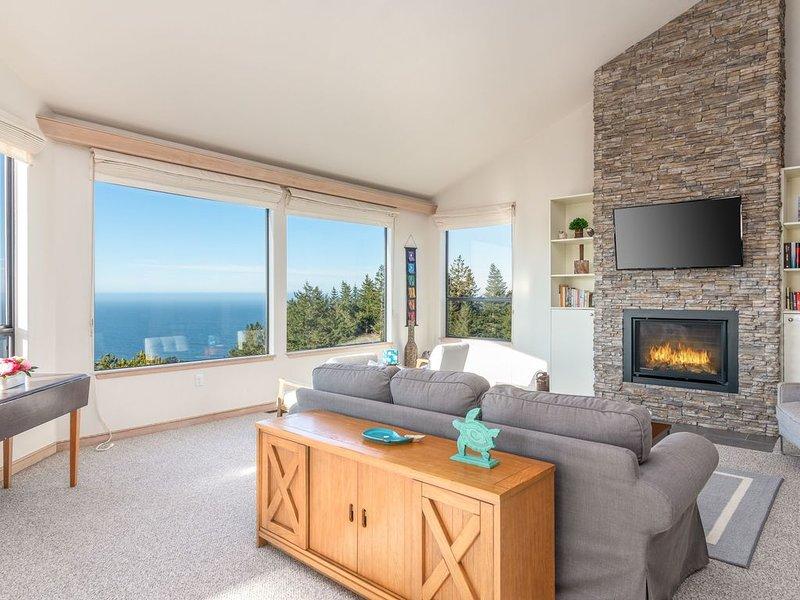 Pet friendly house w/ ocean views, board games, BBQ grill, 4 min to Shell Beach, casa vacanza a The Sea Ranch