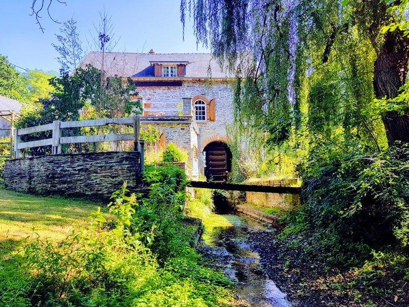 Moulin à eau, calme en campagne, holiday rental in Martigne-Ferchaud