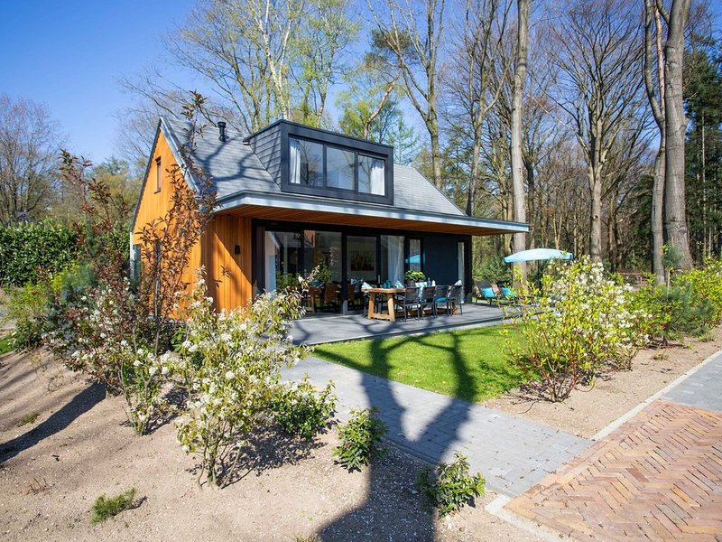 Detached modern and superior holiday home for 7 persons with private sauna, holiday rental in Lunteren
