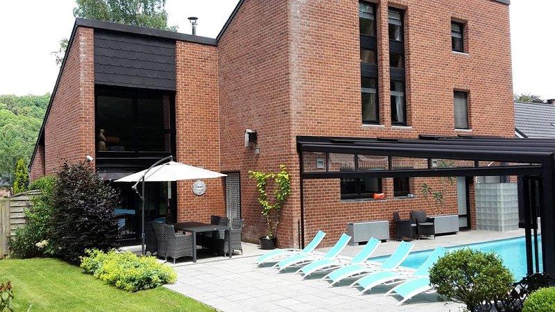 Villa Wellness de vacances avec piscine chauffée et couverte près de Durbuy, location de vacances à Villers-Sainte-Gertrude