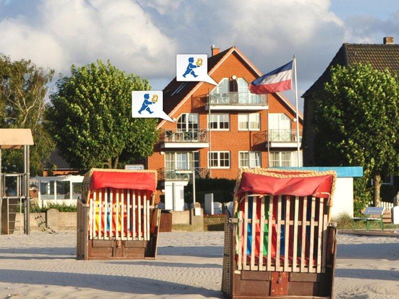Moderne Ostseeblick-Wohnung mit 2 Balkonen, holiday rental in Laboe